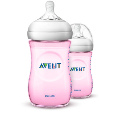 Avent Philips  Natural lahvička SCF03427 260ml 2 ks růžová - růžovápink - Gr.260 ml - 350 ml