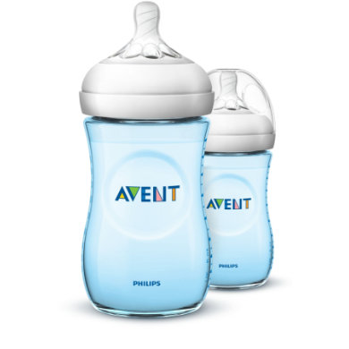 Avent Philips  Natural lahvička PP 260ml 2 ks modrá - Gr.260 ml - 350 ml