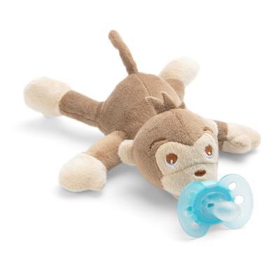 Philips Avent dudlík zvíře SCF348 / 12 Snuggle Monkey + ultra soft tyrkysová