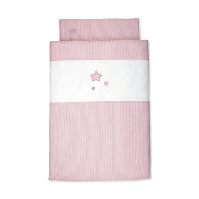 Kindertextilien - Sterntaler Baby Bettwäsche rose 100 cm x 135 cm  - Onlineshop Babymarkt