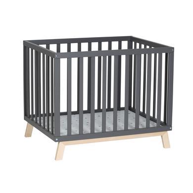 Laufgitter - Schardt Laufgitter Holly nordic grey 75 x 97cm Sternchen grau  - Onlineshop Babymarkt