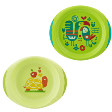 chicco Plate Set Green 12M