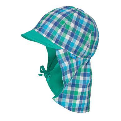 Miniboyaccessoires - maximo Boys Schildmütze Karo navy–grün–weiss - Onlineshop Babymarkt