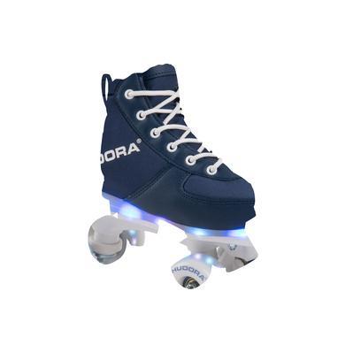 Hudora ® Roller Skates Advanced, navy LED blau Gr.29 30