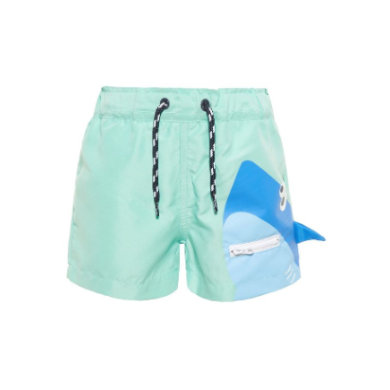 name it Boys Badehose Nmmzharky ocean wave blau Gr.Babymode (6 24 Monate) Jungen