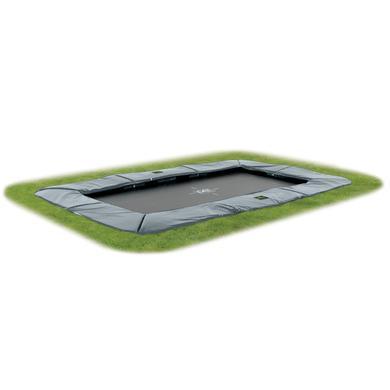 EXIT Inground-Trampolin Supreme GroundLevel 244x427cm (7x12ft) grå+ Säkerhetsnät