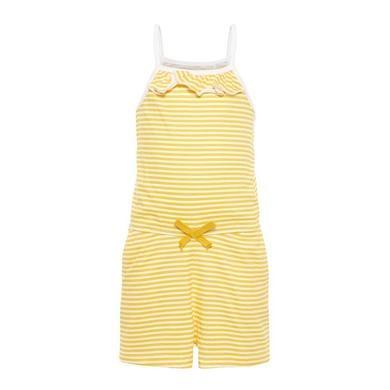 Minigirlhosen - name it Girls Jumpsuit Vigga bright white stripe – gelb – Gr.80 – Mädchen - Onlineshop Babymarkt