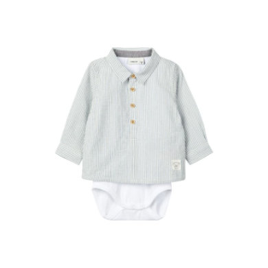 name it Boys Shirt Body Delix Ashley Blue blau Gr.86 Jungen