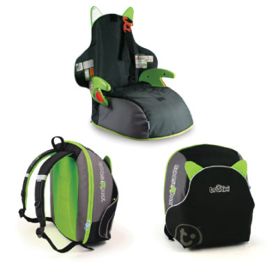 Trunki BoostApak Podsedák  batoh 2 v 1 BlackGreen