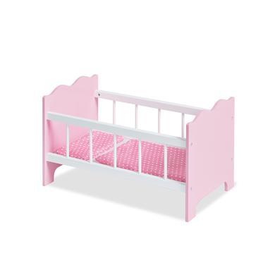 Pinolino postýlka pro panenky Jasmin, komplet - růžová/pink