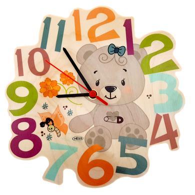 Uhren - Hess Wandquarzuhr Bär, nature bunt  - Onlineshop Babymarkt