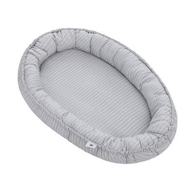 Kindertextilien - JULIUS ZÖLLNER Nido Nestchen Grey Stripes 86 x 58 x 10 cm  - Onlineshop Babymarkt