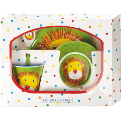 COPPENRATH Melamine Gift Set Lion Cheeky Rattle Gang