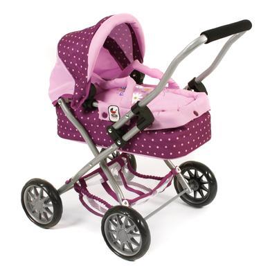 BAYER CHIC kočárek pro panenky SMARTY Dots malina - fialová