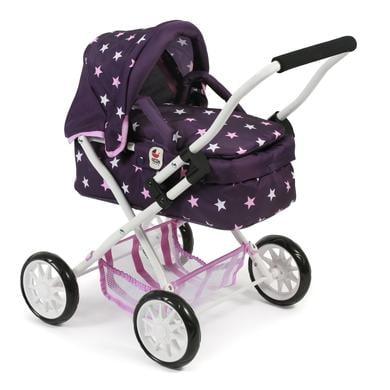 BAYER CHIC kočárek pro panenky SMARTY stars fialová