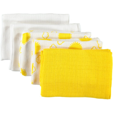 pojmenujte to Gauze handry Nappies 5-pack b right white 70 x 70 cm