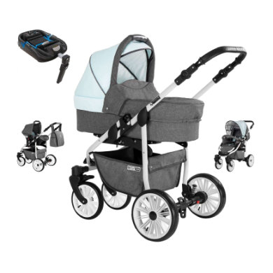 Friedrich Hugo  kombinovaný Berlin 4 v 1 2019 s Isofix Set Grey and Light Blue Day šedá modrá