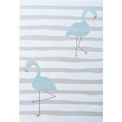 LIVONE Dětský koberec na hraní Kids Love Rugs - Flamingo creme/mint 160 x 220 cm