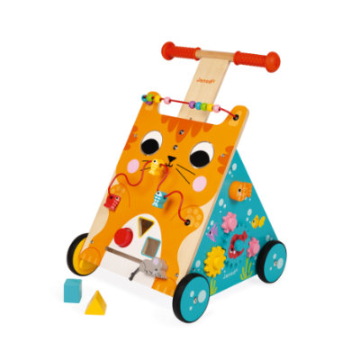 Janod® Spiel- & Laufwagen Katze Multi-Activity
