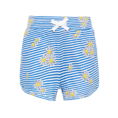 name it Girls Shorts Vigga Bright White Blue Stripes Flowers blau Gr.Kindermode (2 6 Jahre) Mädchen