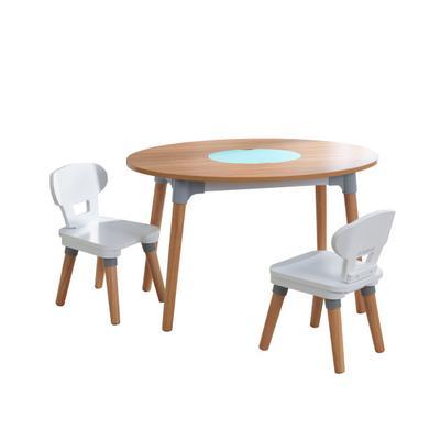 KidKraft ® Mid-Century Kid dětský stůl se 2 židlemi - přírodní