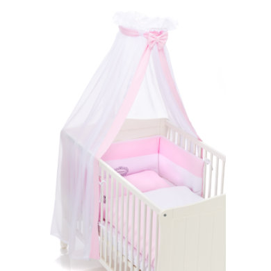 Kindertextilien - fillikid Bettwäscheset Jersey Princess rosa 100 x 135 cm  - Onlineshop Babymarkt