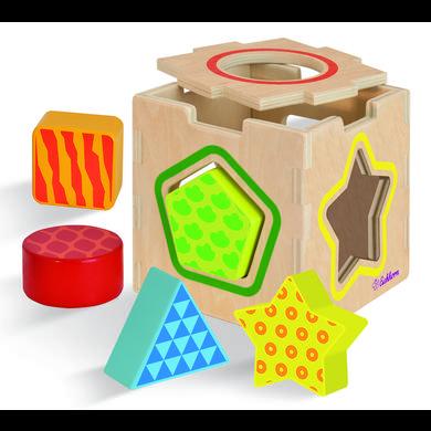 Eichhorn Cube à enficher tri de formes bois