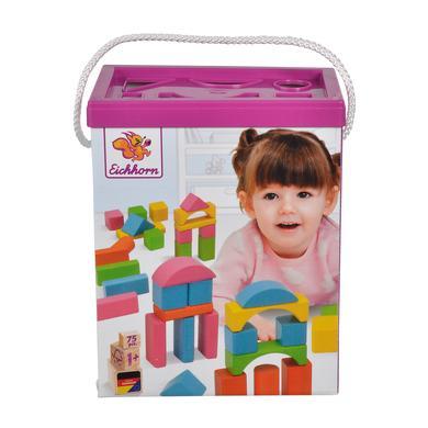 Eichhorn Briques enfant bois multicolore 75 pièces