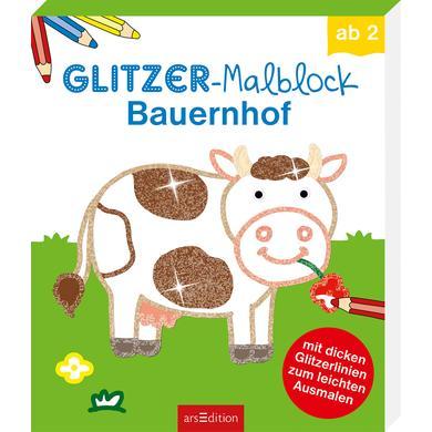arsEdition Glitzer-Malblock: Bauernhof