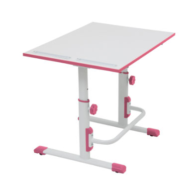 POLINI Kids desk Simple M1 white-pink