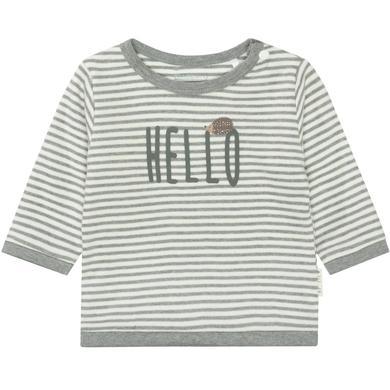 Staccato Shirt grey melange gestreift grau Gr.Newborn (0 6 Monate) Unisex