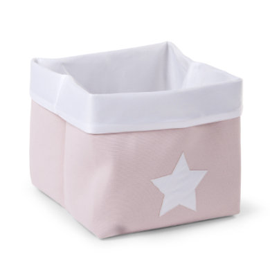 CHILDHOME Aufbewahrungsbox soft rosa, weiß 32 x 32 x 29 cm