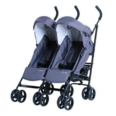 KNORR-baby sourozenecký kočárek Side by Side šedý 2019 - šedá