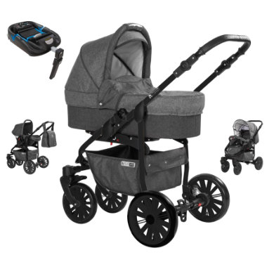 Friedrich Hugo  kombinovaný Berlin 4 v 1 2019 Isofix Dark Grey and Grey Night - šedá