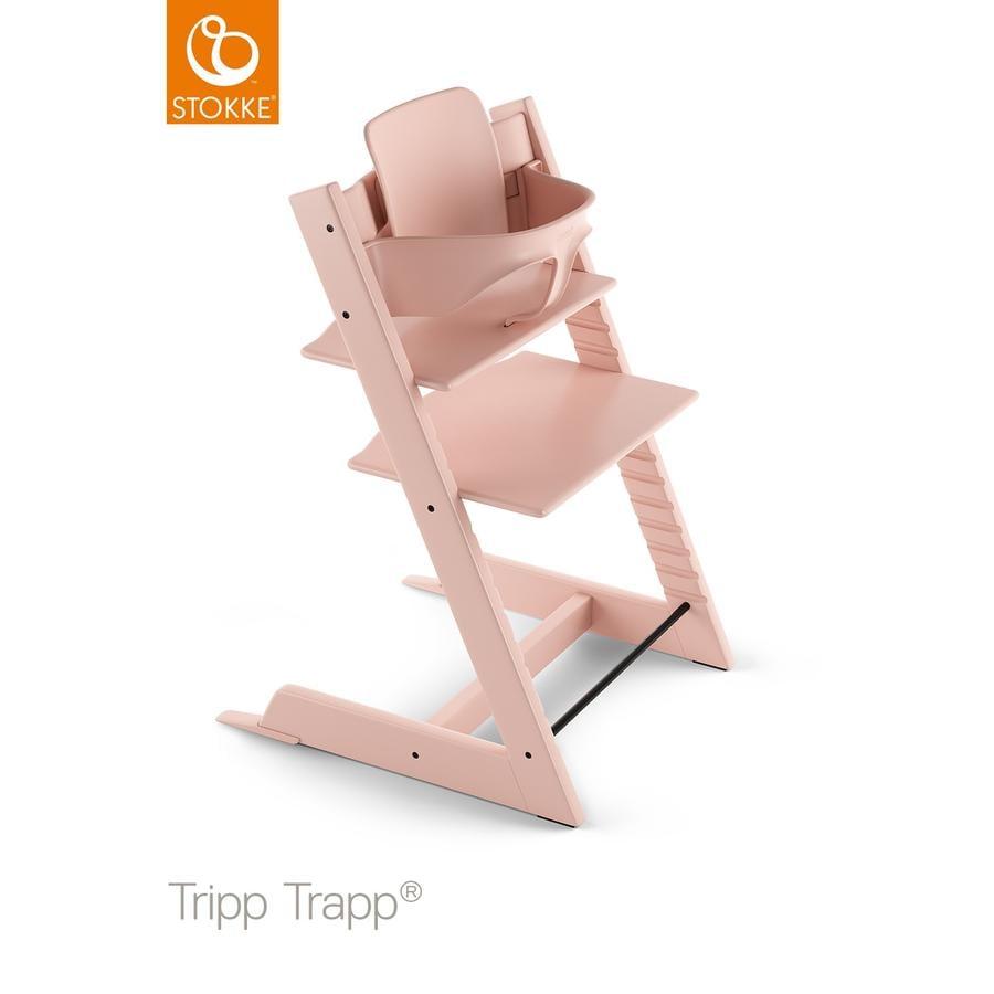 Hochstühle - STOKKE® Tripp Trapp® Hochstuhl inkl. Baby Set Buche Serene Pink  - Onlineshop Babymarkt
