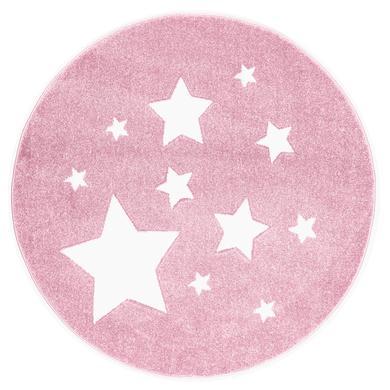 ScandicLiving Matta Rosa stjärnor, rund Ø 133 cm
