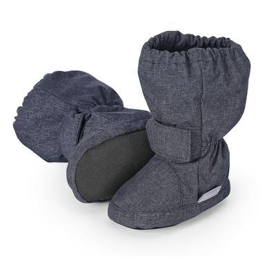 Babyschuhe - Sterntaler Boys Baby–Schuh blau melange large – Gr.23 24 – Jungen - Onlineshop Babymarkt
