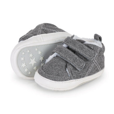 Babyschuhe - Sterntaler Boys Baby–Schuh Filz silber melange - Onlineshop Babymarkt