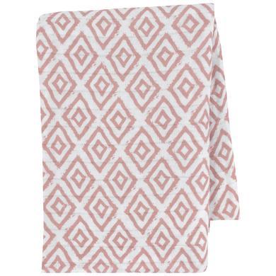 emma & noah Hydrofiele doek Ruitjes roze 120 x 120 cm