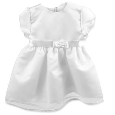 HOBEA-Germany šaty do křtu Jana se saténovou mašlí bílé