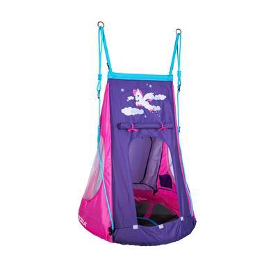 HUDORA Nest swing Pony LED 90, růžová / fialová 72149