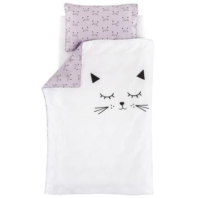 Träumeland Postel ložní prádlo plyšová kočka 100x135cm