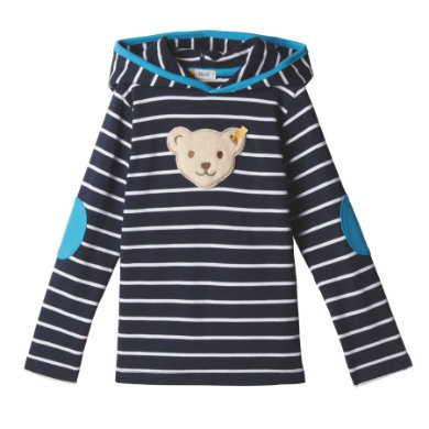 Miniboyoberteile - Steiff Boys Sweatshirt, black Iris - Onlineshop Babymarkt