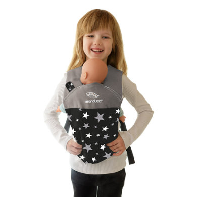 manduca Puppet Cotton carrier Starlets Black