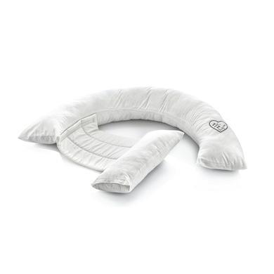BabyJem Side bílý polštář na spaní kulatý