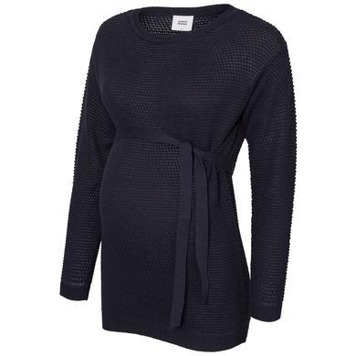 mama licious triko s dlouhým rukávem MLCRYSTALINE Navy Blazer - modrá - Gr.Těhotenská móda
