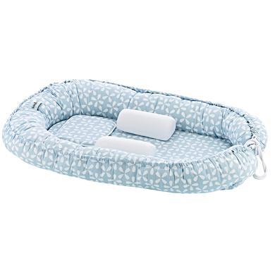 Image of babyJem Baby Nestchen mit Seiten- und Kopfschutz blue