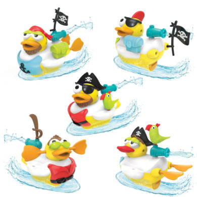 Yookidoo ™ Water obsahuje Jet Duck® Pirate
