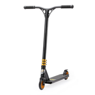 Roller - bikestar STAR SCOOTER® Freestyle Stuntscooter Schwarz matt Gold - Onlineshop