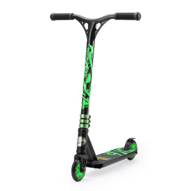 bikestar STAR SCOOTER® Freestyle Mini Stuntscooter Action, schwarz grün